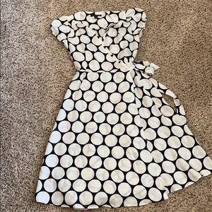 Banana republic wrap dress with slip